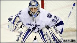 Mathieu Garon. Full-Right Goalie. Image Credit: USPressWire and wtsp.com
