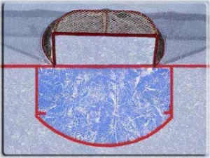Ice Hockey Goal Crease - Image Credit: http://sbn.to/gI1w6n
